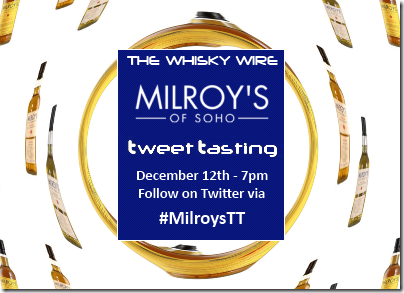 Milroys Tweet Tasting 2 wide banner